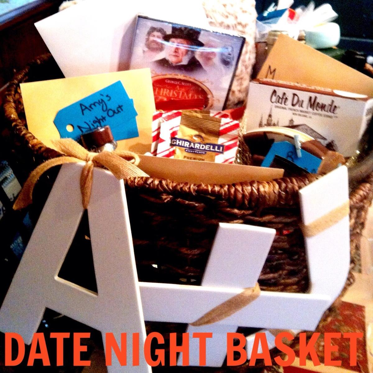 Date Night Wedding Gift Basket : Date Night Basket Classy on the Rocks