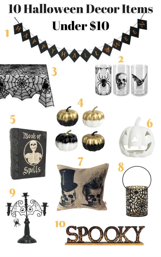 10 Halloween Decor Items